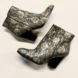 DONALD J PLINER Snake Embossed Swift Ankle Boot